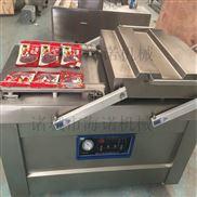 500型气调锁鲜菜花连续式真空包装机