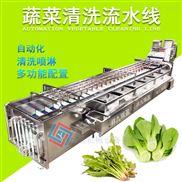 直销蔬菜涡流清洗多功能商用喷淋式清洗机