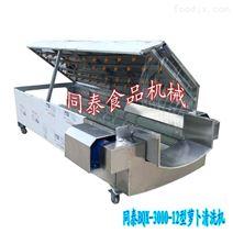毛刷式白萝卜清洗机 全自动洗萝卜机器