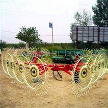 液压多盘圆盘搂草机 牧草秸秆指盘式割草机