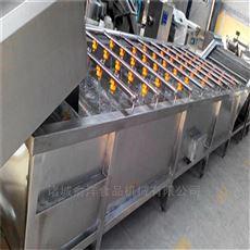 全自动打造大型果蔬清洗流水线气泡清洗机
