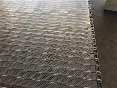 烘干机冲孔不锈钢链板式输送带