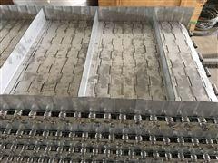 酒店垃圾处理链板输送设备挡板提升链板