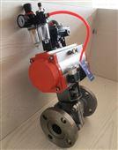 Q641F氣動球閥 耐磨耐腐蝕氣動法蘭球閥