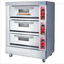 泰安紅菱不銹鋼三層六盤電烤箱廠家批發銷售