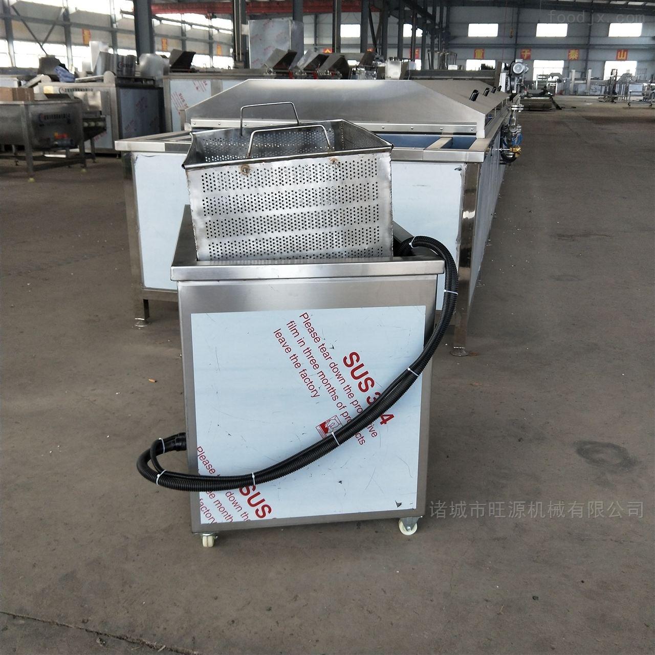 供应五香鱼油炸机/带鱼自动翻筐油炸设备