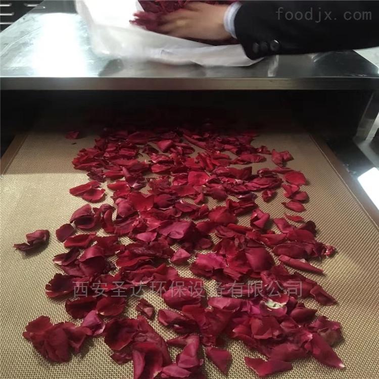 中小型微波玫瑰花杀青设备自动化生产