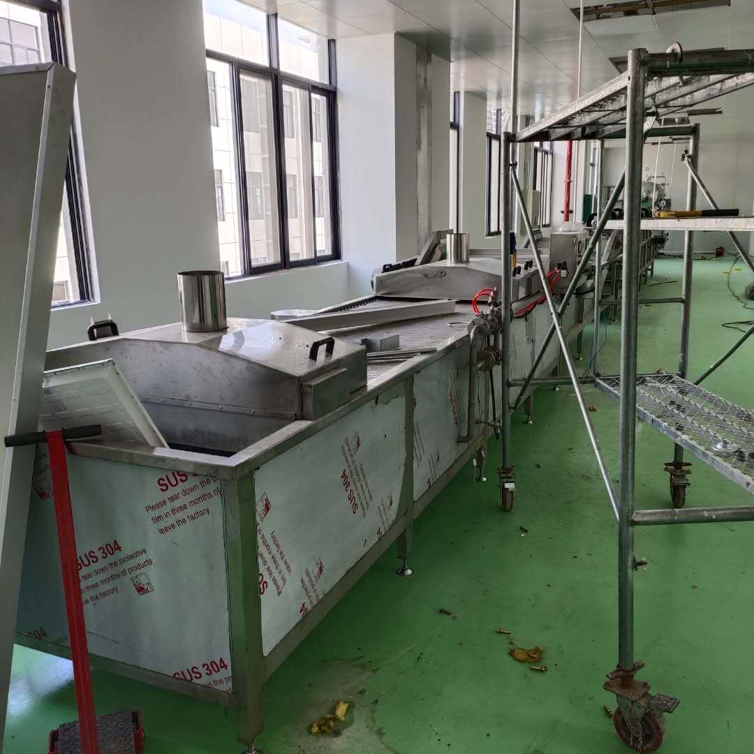 螺蛳粉生产杀菌流水线安装完成